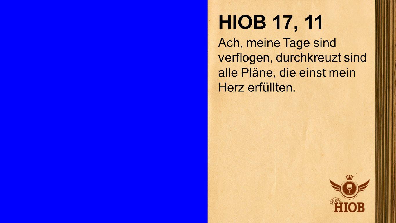 Hiob 17, 11 HIOB 17, 11.