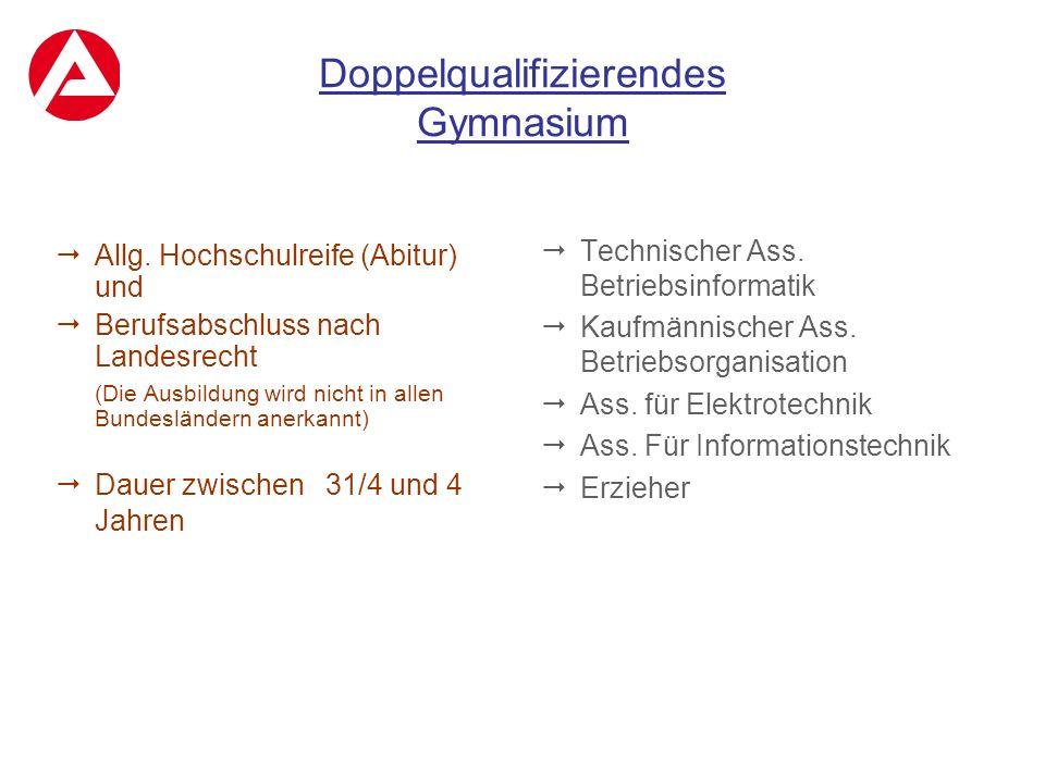 Doppelqualifizierendes Gymnasium