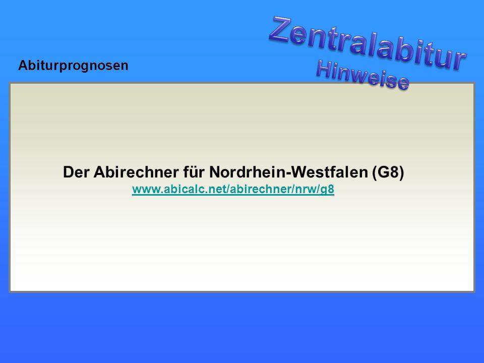 Der Abirechner für Nordrhein-Westfalen (G8)