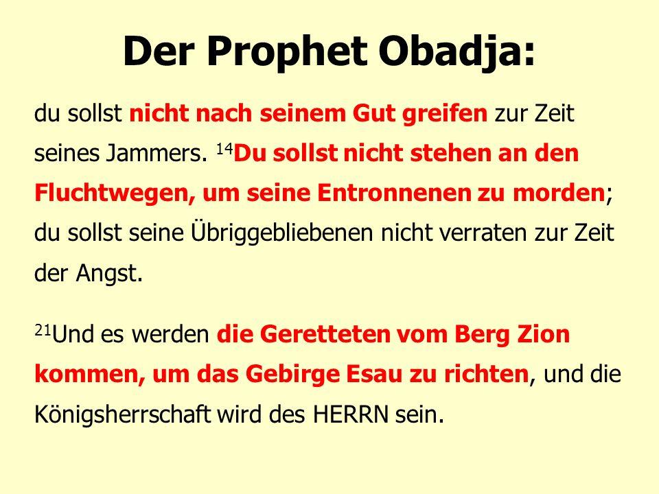 Der Prophet Obadja: