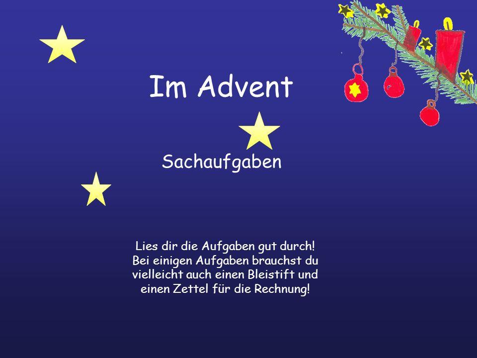 Im Advent Sachaufgaben