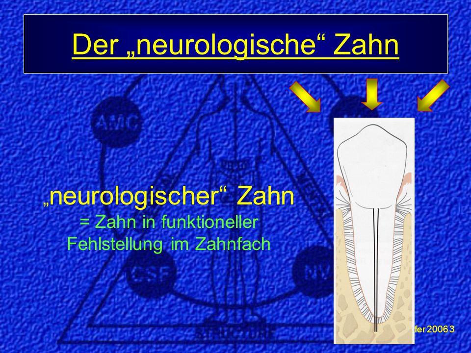 """""""neurologischer Zahn = Zahn in funktioneller Fehlstellung im Zahnfach"""
