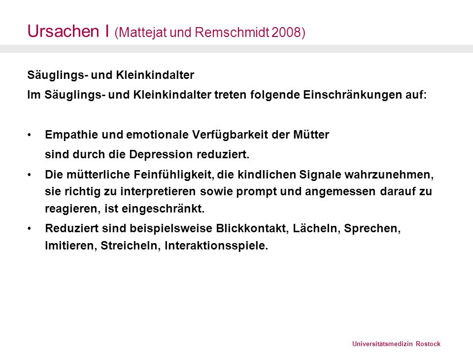 Ursachen I (Mattejat und Remschmidt 2008)