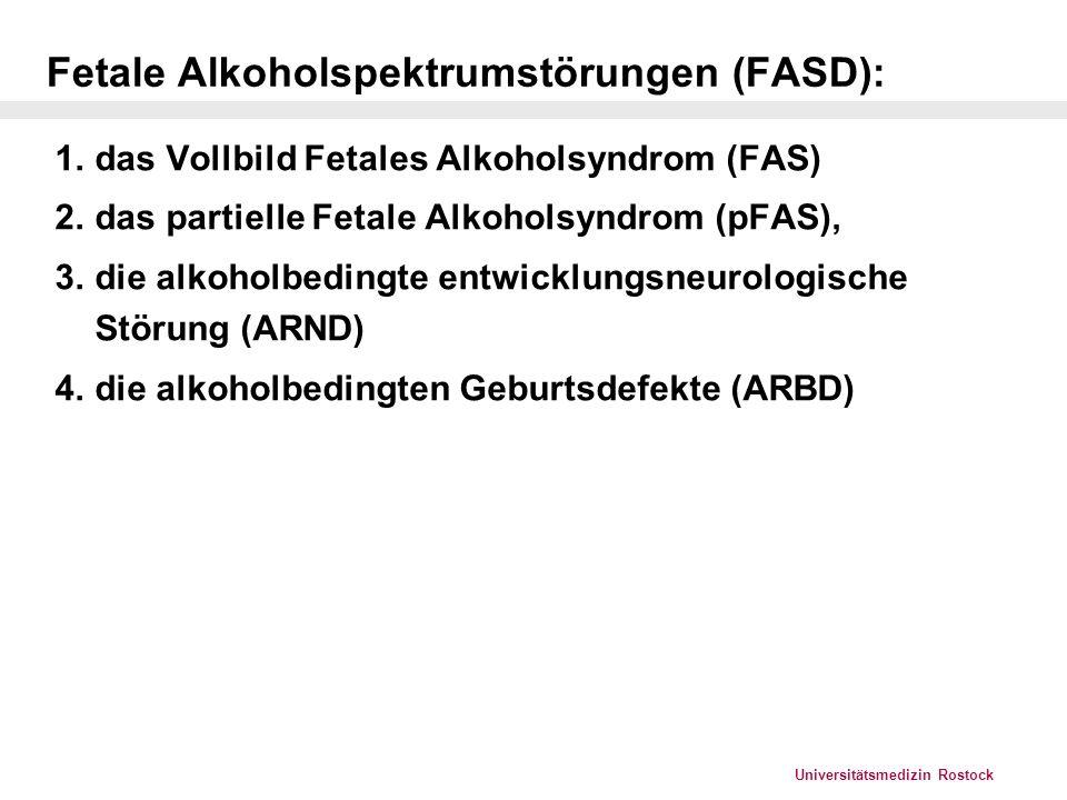Fetale Alkoholspektrumstörungen (FASD):