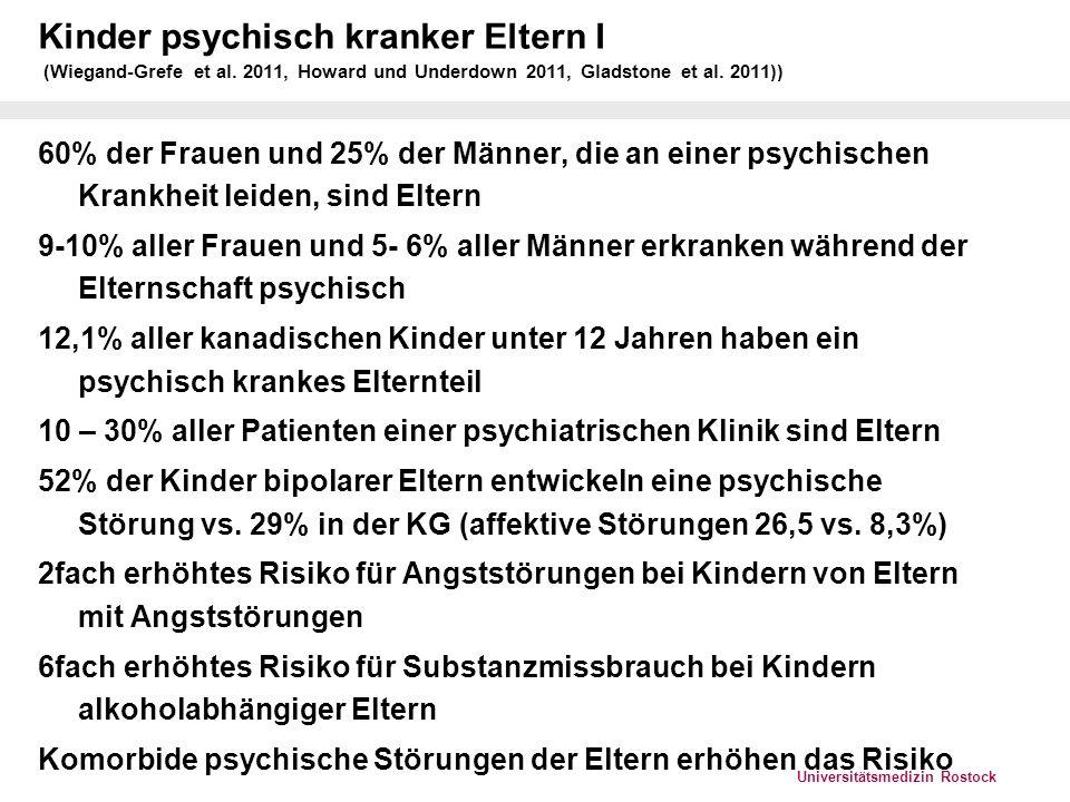 Kinder psychisch kranker Eltern I (Wiegand-Grefe et al