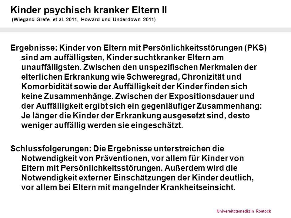 Kinder psychisch kranker Eltern II (Wiegand-Grefe et al