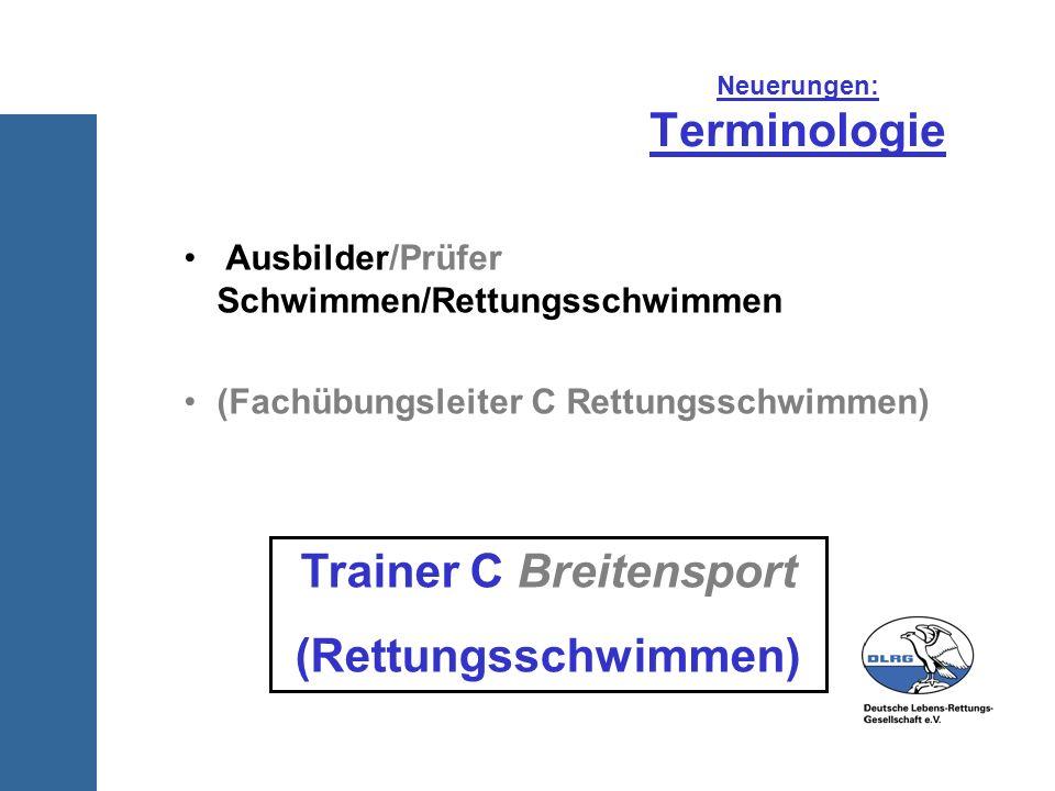 Neuerungen: Terminologie
