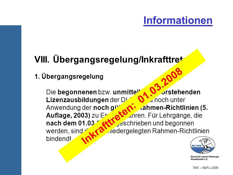 Informationen Inkrafttreten: 01.03.2008