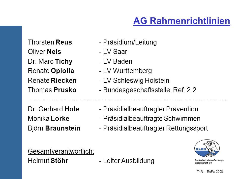 AG Rahmenrichtlinien