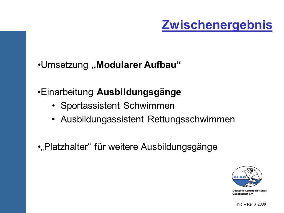 """Zwischenergebnis Umsetzung """"Modularer Aufbau"""