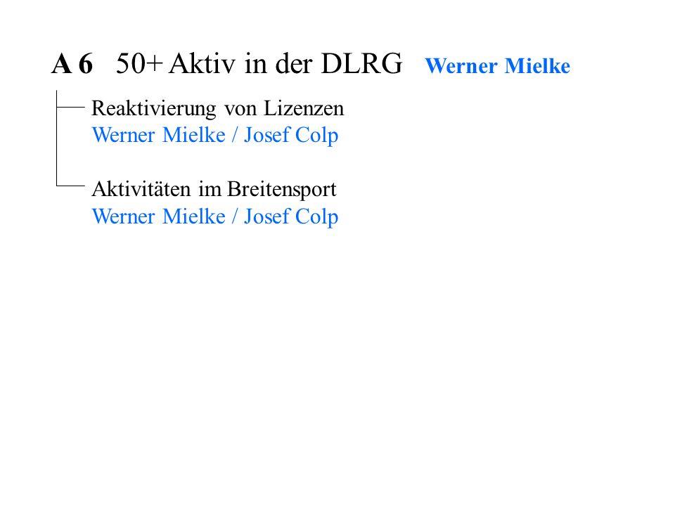 A 6 50+ Aktiv in der DLRG Werner Mielke