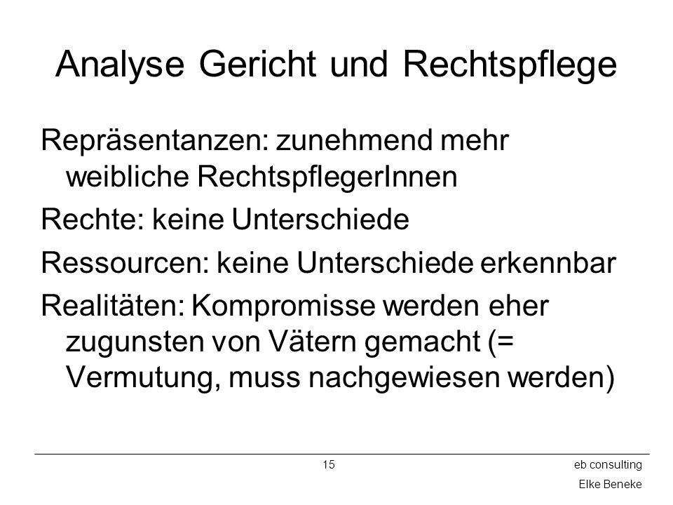 Analyse Gericht und Rechtspflege