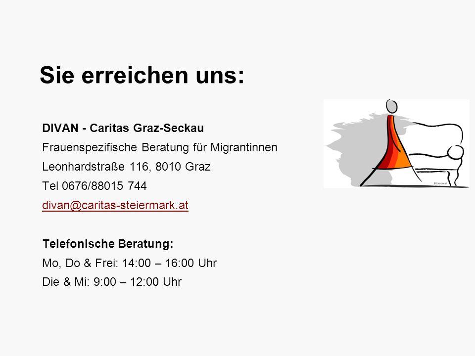 Sie erreichen uns: DIVAN - Caritas Graz-Seckau