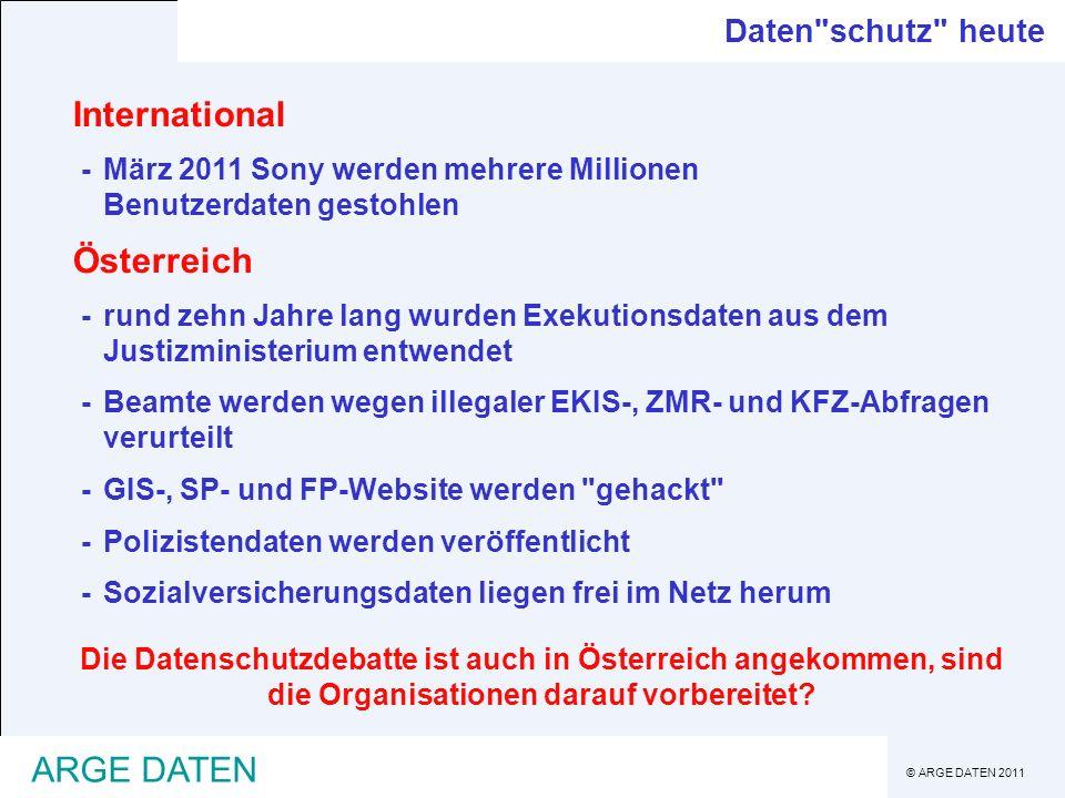 International Österreich ARGE DATEN Daten schutz heute