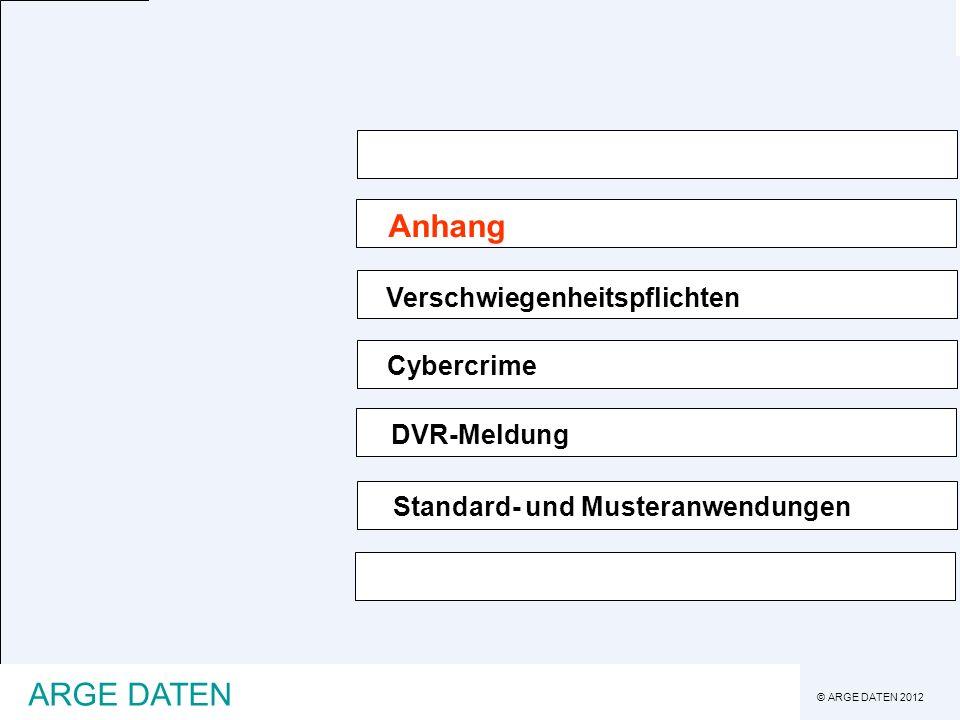 Anhang ARGE DATEN Verschwiegenheitspflichten Cybercrime DVR-Meldung