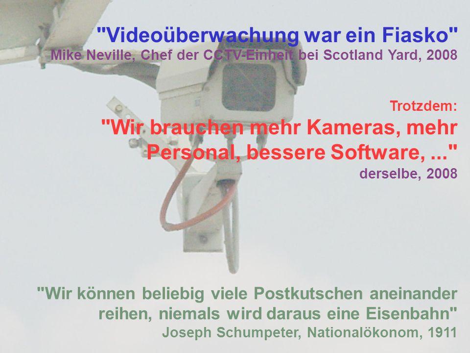 Videoüberwachung war ein Fiasko