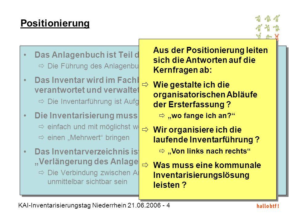 Positionierung Aus der Positionierung leiten sich die Antworten auf die Kernfragen ab: