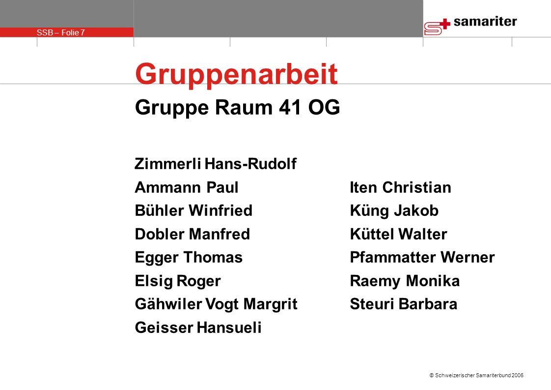Gruppenarbeit Gruppe Raum 41 OG Zimmerli Hans-Rudolf
