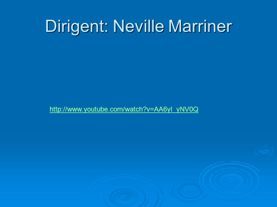 Dirigent: Neville Marriner