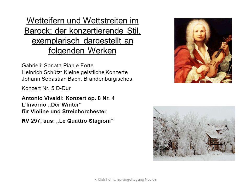 F. Kleinheins, Sprengeltagung Nov 09