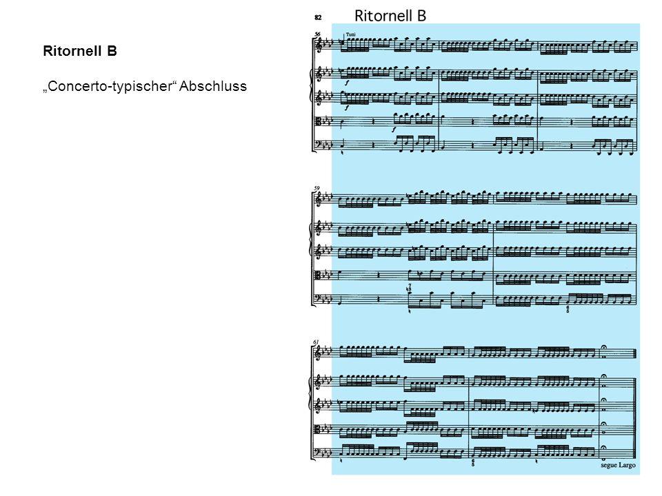 """Ritornell B """"Concerto-typischer Abschluss"""