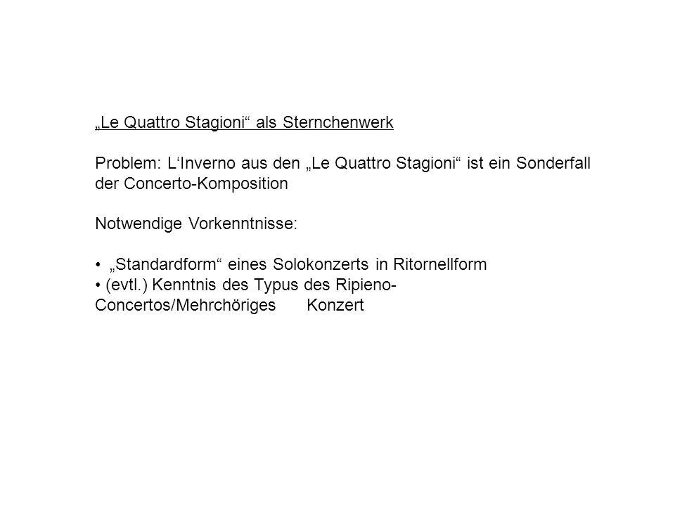 """""""Le Quattro Stagioni als Sternchenwerk"""