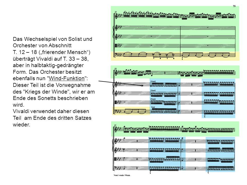 Das Wechselspiel von Solist und Orchester von Abschnitt