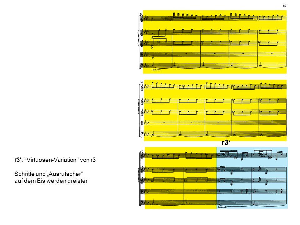 """r3' r3 : Virtuosen-Variation von r3 Schritte und """"Ausrutscher"""
