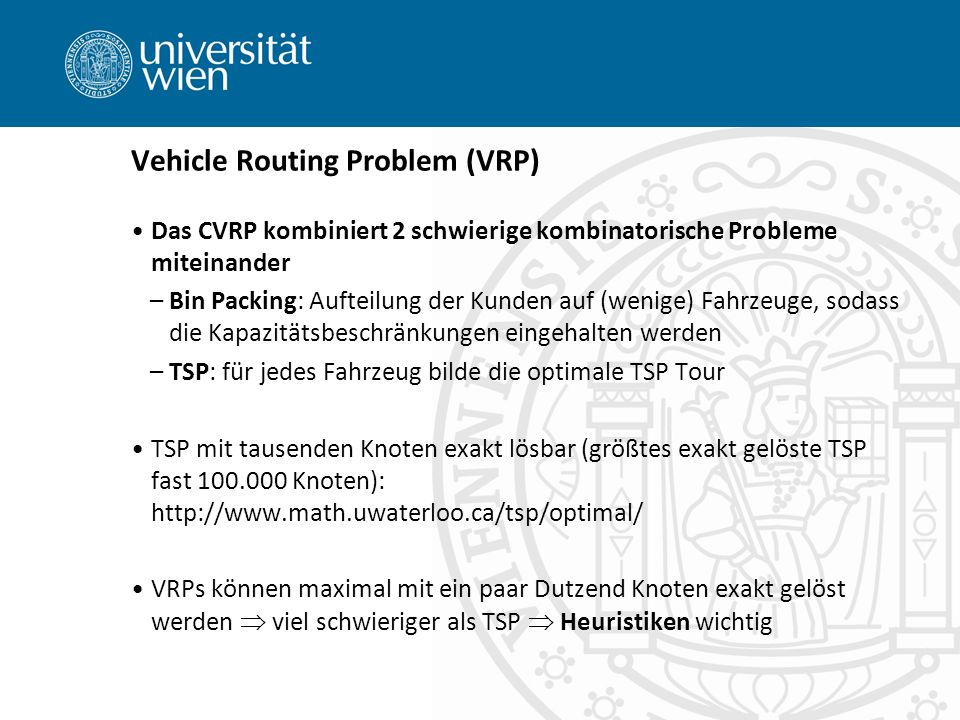 Vehicle Routing Problem (VRP)