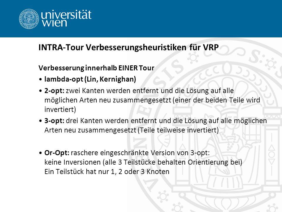INTRA-Tour Verbesserungsheuristiken für VRP