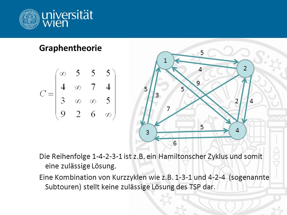 Graphentheorie 1. 3. 4. 2. 6. 5. 7. 9.