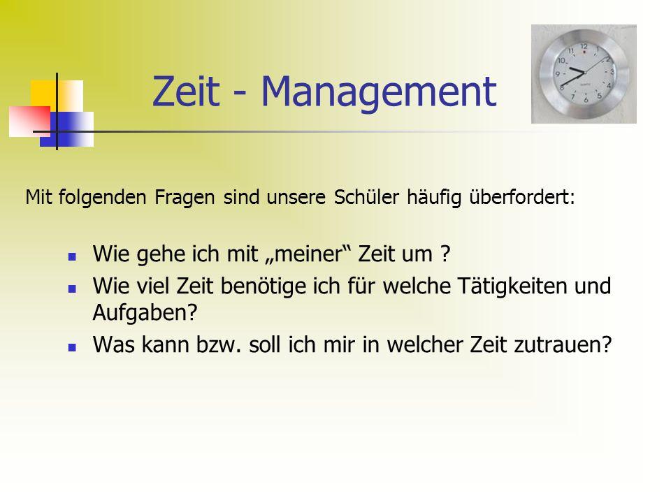 """Zeit - Management Wie gehe ich mit """"meiner Zeit um"""
