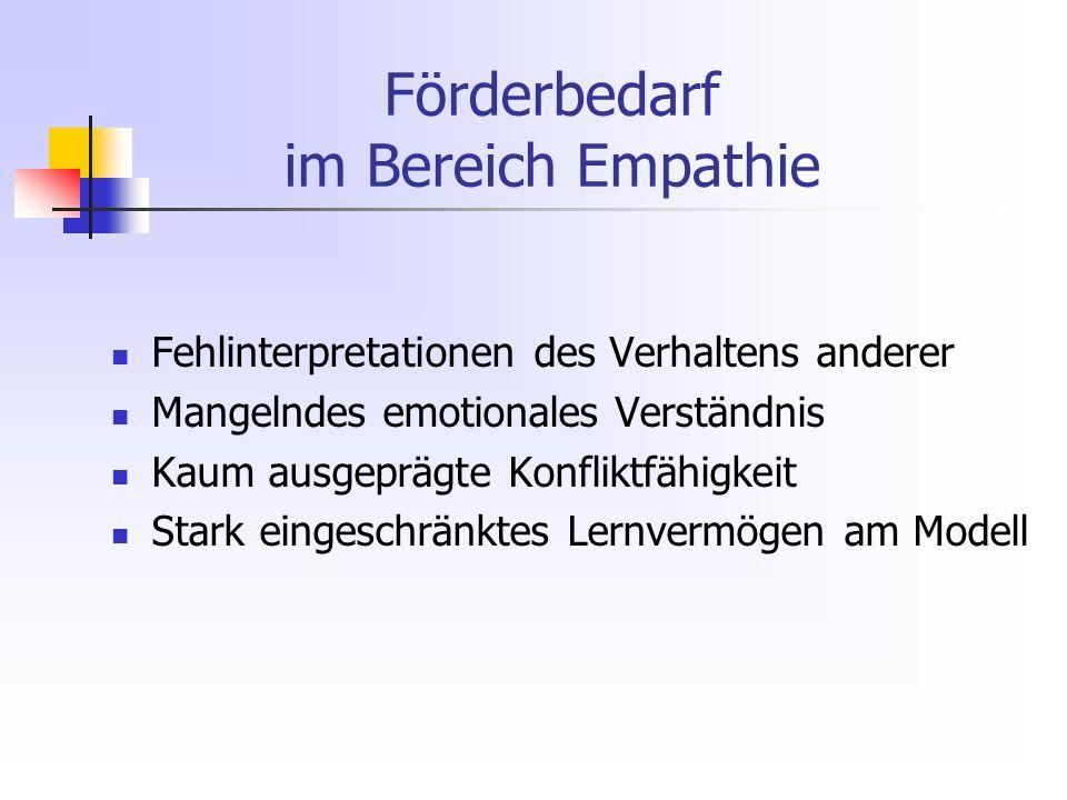 Förderbedarf im Bereich Empathie