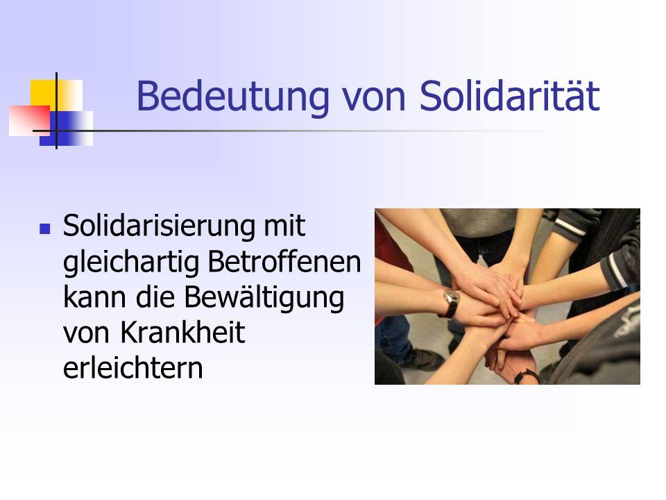 Bedeutung von Solidarität