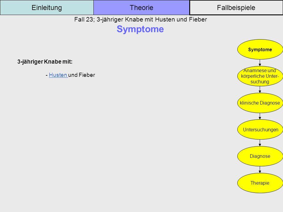 Fall 23; 3-jähriger Knabe mit Husten und Fieber Symptome