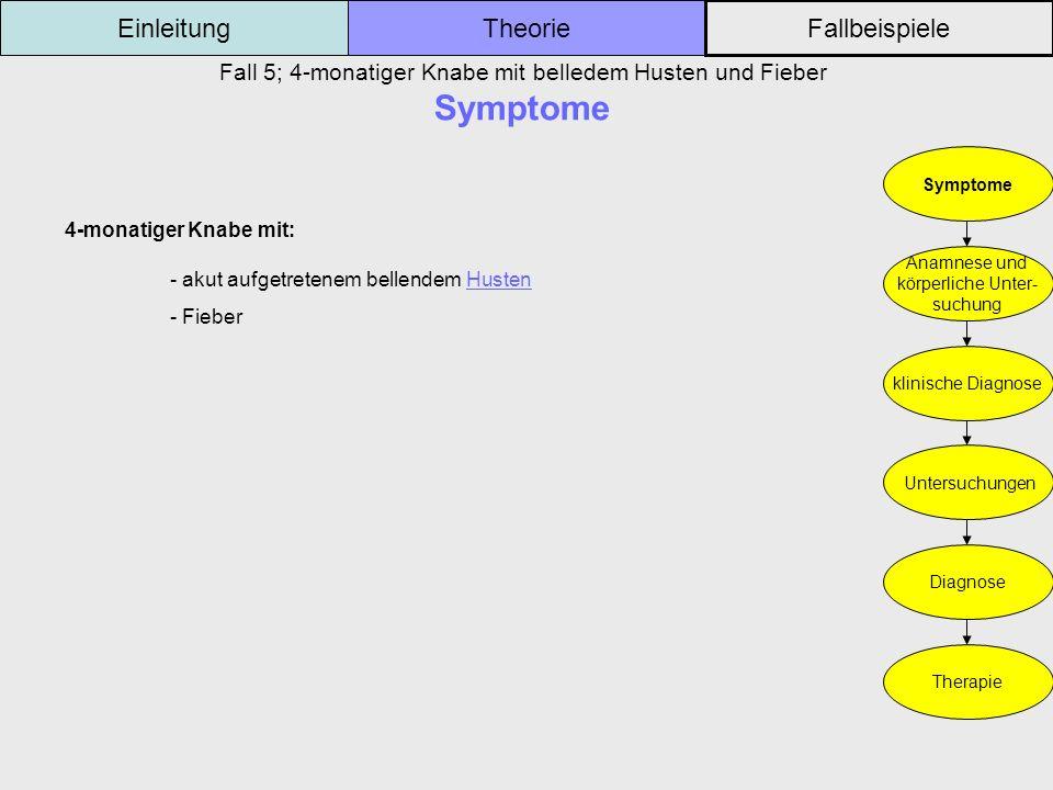Fall 5; 4-monatiger Knabe mit belledem Husten und Fieber Symptome
