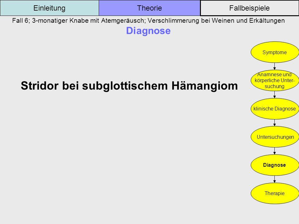 Stridor bei subglottischem Hämangiom