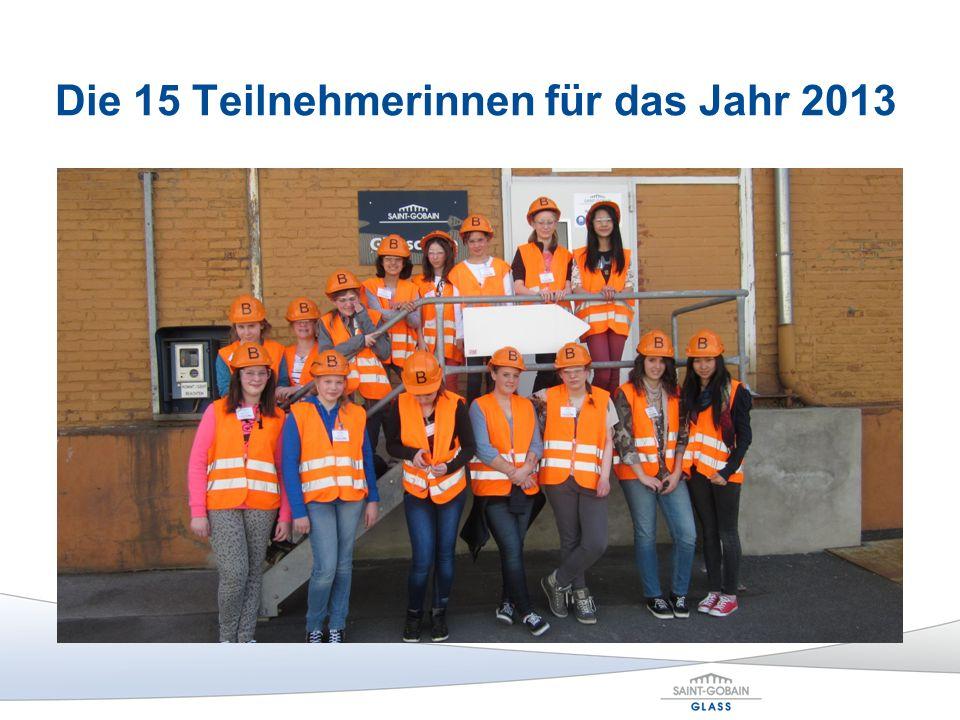 Die 15 Teilnehmerinnen für das Jahr 2013