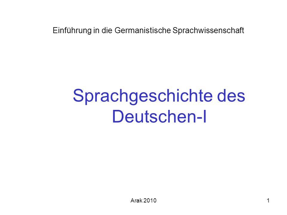 Sprachgeschichte des Deutschen-I