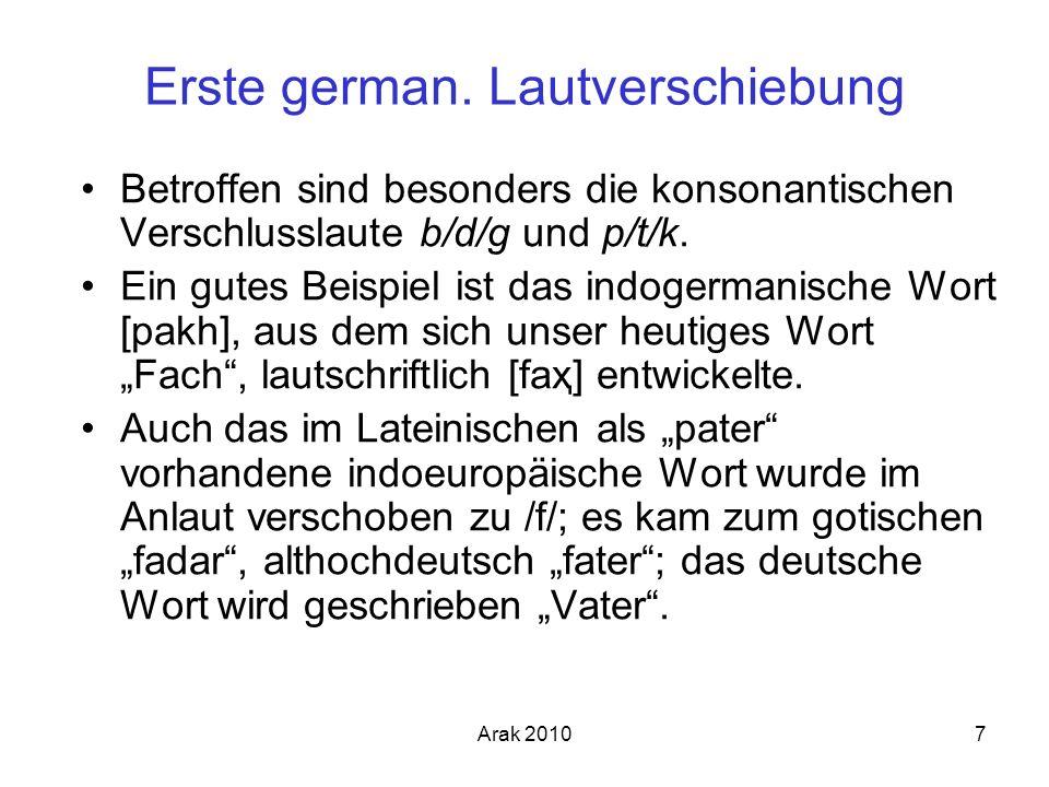Erste german. Lautverschiebung