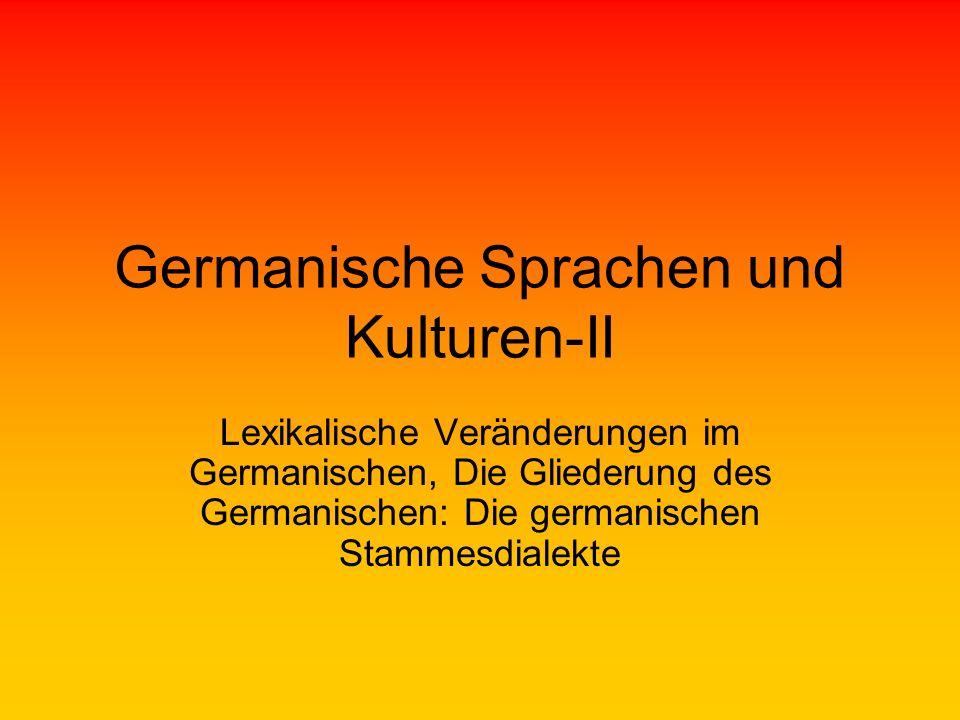 Germanische Sprachen und Kulturen-II