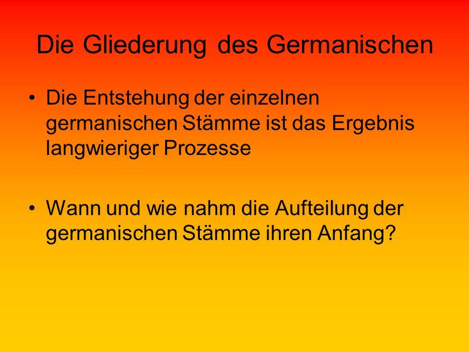 Die Gliederung des Germanischen