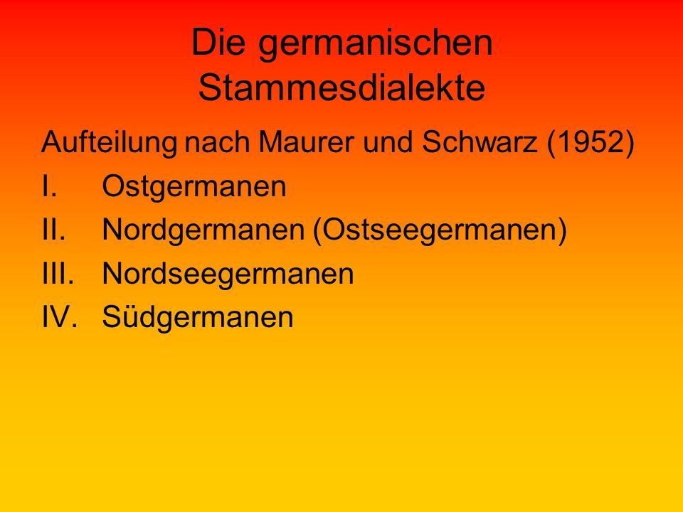 Die germanischen Stammesdialekte