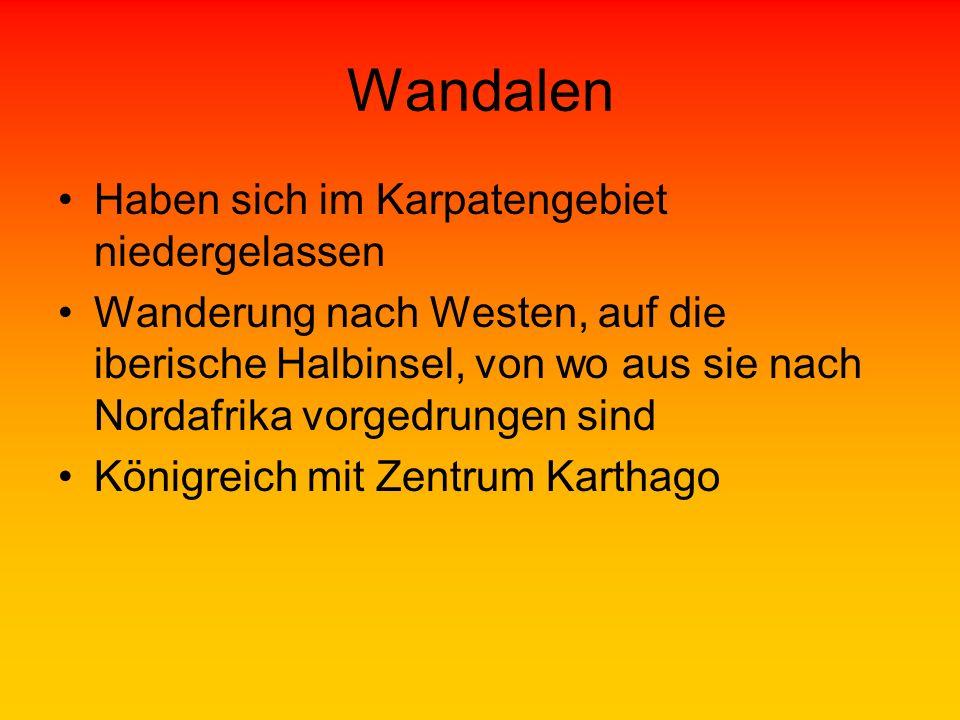 Wandalen Haben sich im Karpatengebiet niedergelassen