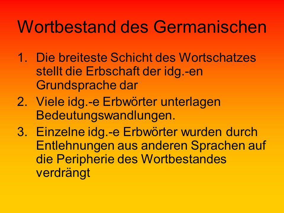 Wortbestand des Germanischen
