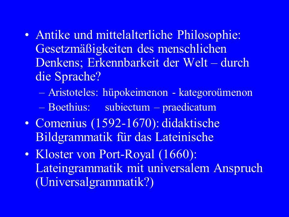 Comenius (1592-1670): didaktische Bildgrammatik für das Lateinische