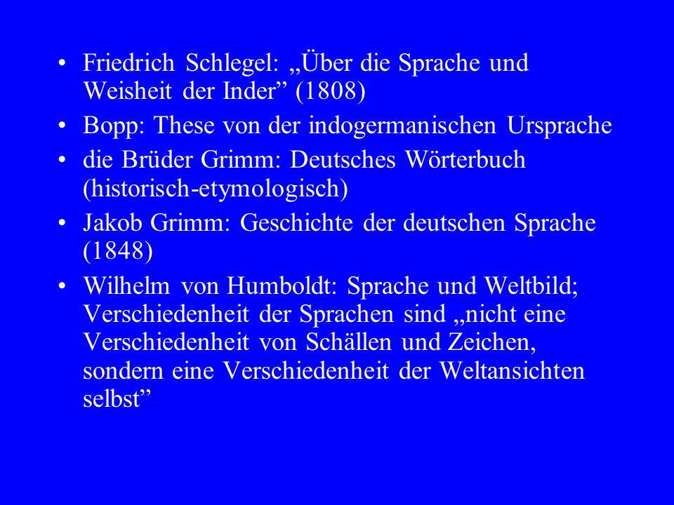 """Friedrich Schlegel: """"Über die Sprache und Weisheit der Inder (1808)"""