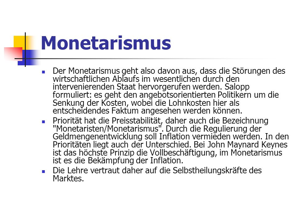 Monetarismus