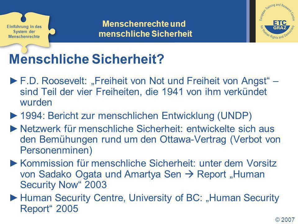 Menschenrechte und menschliche Sicherheit