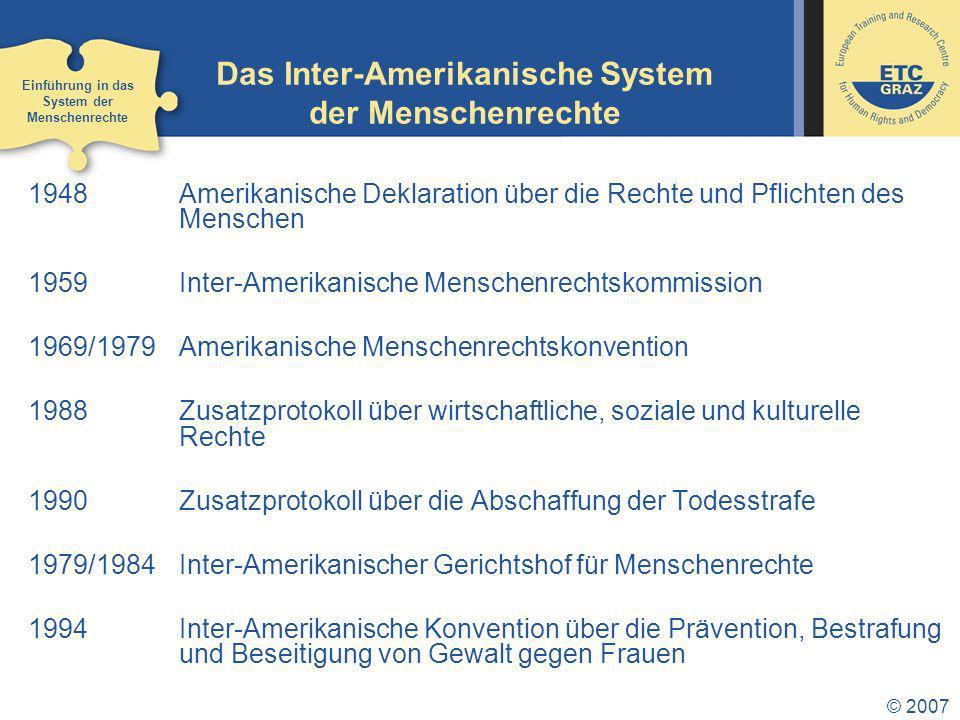 Das Inter-Amerikanische System der Menschenrechte